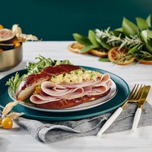 Breakfast Strammer Sandwich on a plate